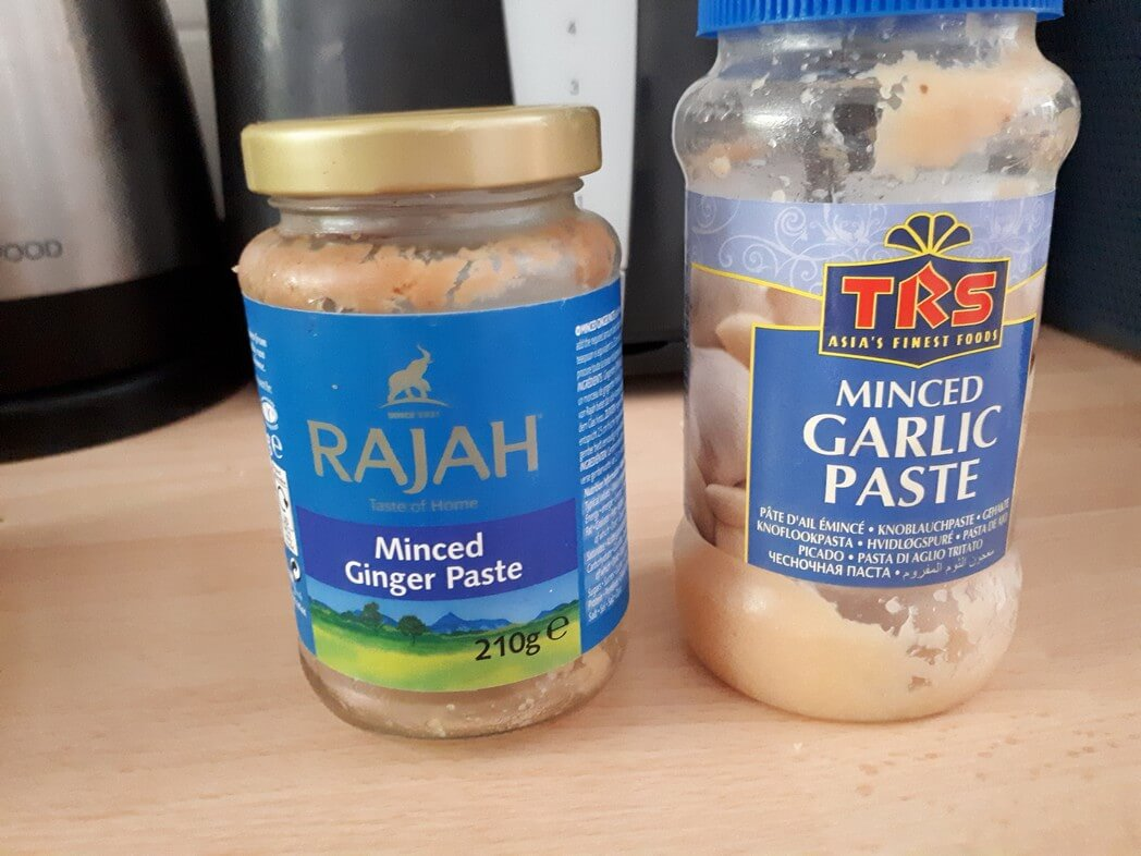 1 tsp ginger paste and 1 tsp garlic paste